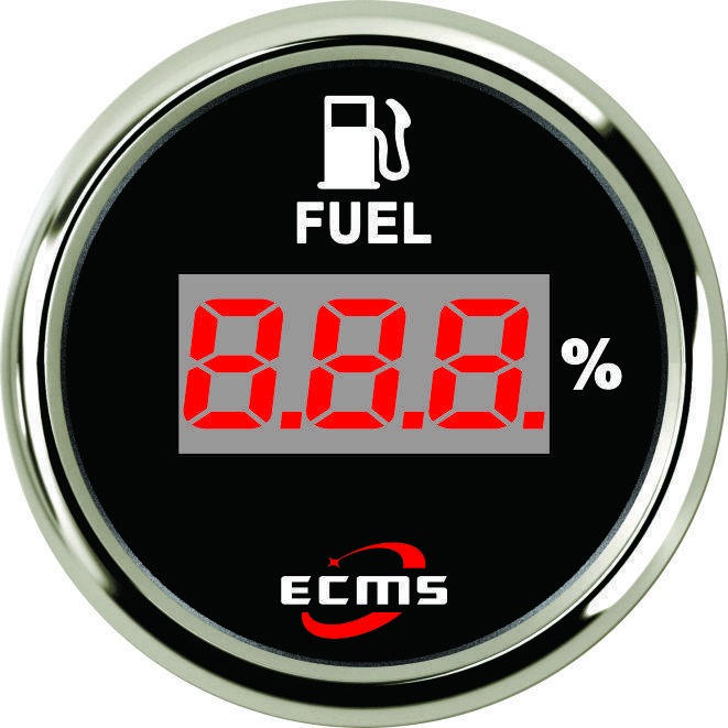 Цифровой датчик топлива Ecms  52мм черный  серия эконом