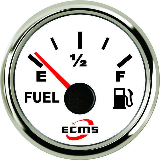Датчик уровня топлива Ecms диаметр 52мм, белый серия эконом