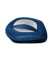 Сиденье трехугольное на стойку Pro серо/синее