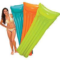 Надувной матрас для плавания Intex 59703, 183-69см, 3 цвета(салатовый, голубой,оранжевый), фото 1
