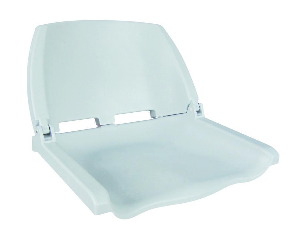 Сиденье складное пластиковое белое
