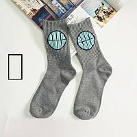 Носки Totoro - высокие - Мяч - серые