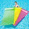 """Надувной матрас для плавания""""Стеганый"""" 44020, 213-86см, 3 цвета"""