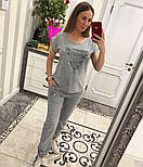 Женский стильный костюм: футболка брюки (2 цвета), фото 3