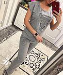 Женский стильный костюм: футболка брюки (2 цвета), фото 5