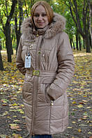 Зимний женский  удлиненный пуховик .  , фото 1