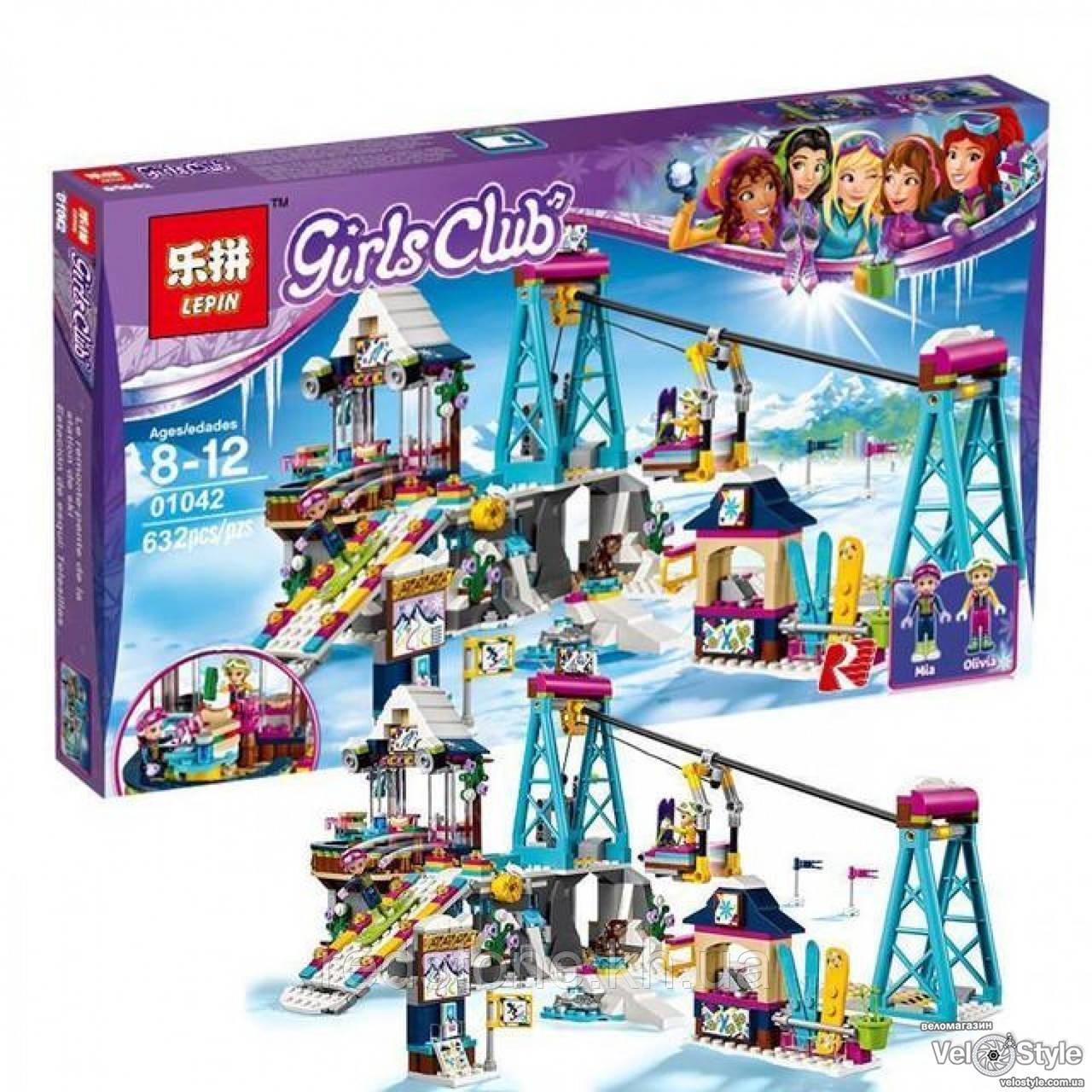 """Конструктор Lepin 01042 """"Горнолыжный курорт"""" (LEGO Friends 41324) 632 дет."""