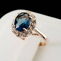 Стильное кольцо с кристаллами Swarovski, покрытое слоями золота 0580