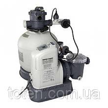 Хлоргенератор + фільтруючий насос. Продуктивність: 10 000 л/ч. Вироблення хлору: 11 грам/год Intex 28682