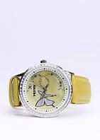 209299 Элегантные часы из 100 % меди, покрытой родием (группа платиновых), с ремешком из искусственной ко
