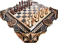 Шахматы нарды резные, фото 1