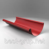 Желоб полукруглый 3 м - водосточная система (водосток) Scandic Copper Roofart 125/87