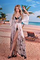 Легкий длинный халат на пляж