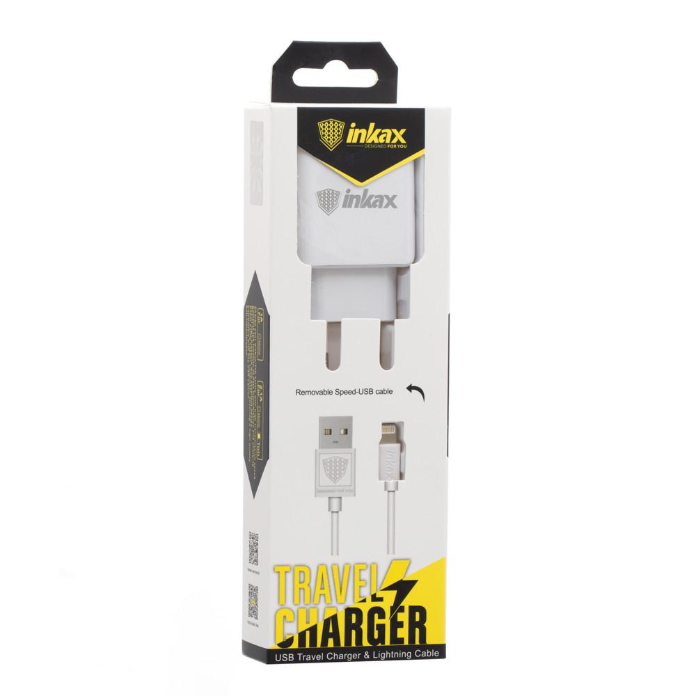 Сетевое зарядное устройство INKAX CD-01 с USB кабелем Lightning