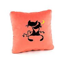 """Подушка подарочная """"Коты под луной"""" флок/ подушка сувенирная"""