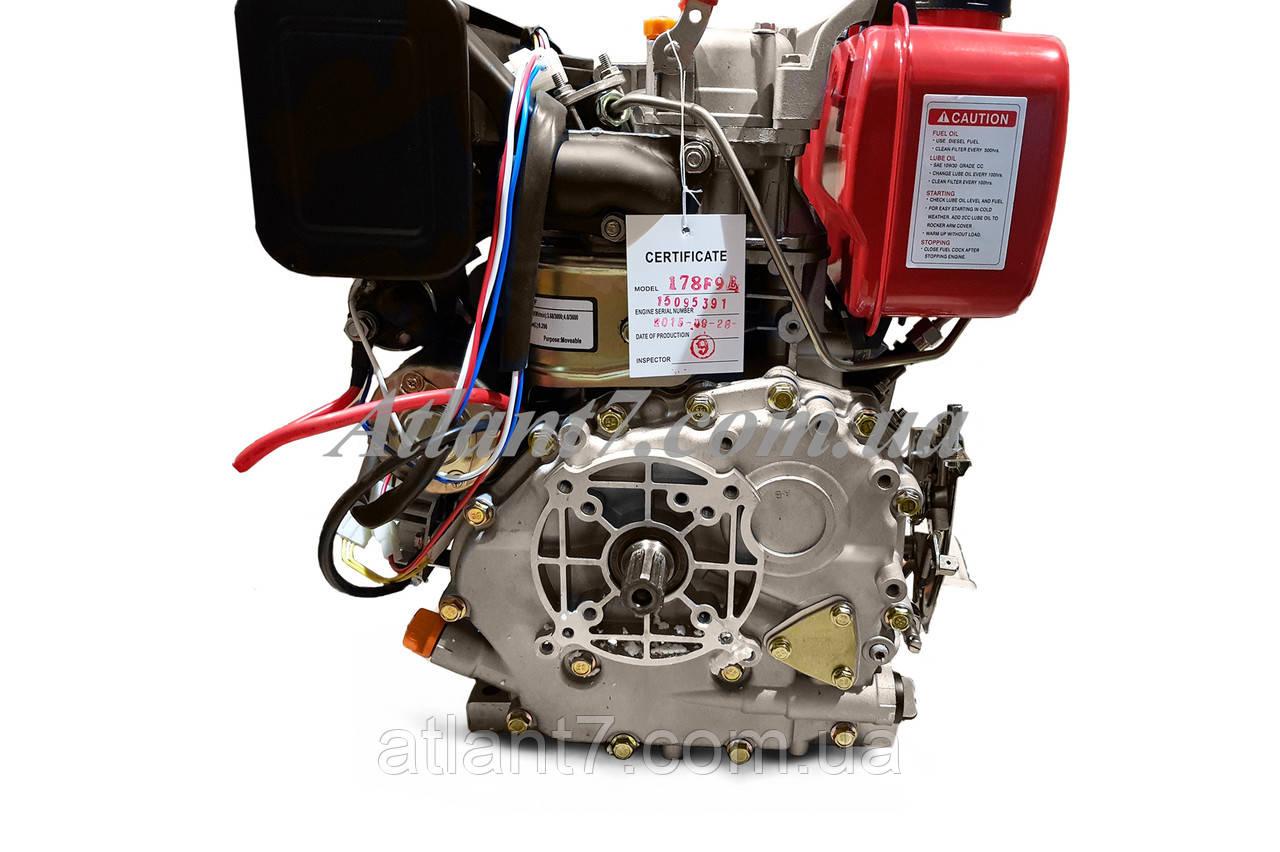 Двигатель 178f диаметр вала 25 мм под шлиц электро стартер