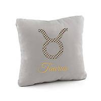 Подушка подарочная гороскоп «Телец» флок/ подушка подарочная с вышывкой, фото 1