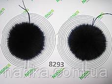 Меховой помпон Песец, Т. Синий, 14 см, пара 8293, фото 2