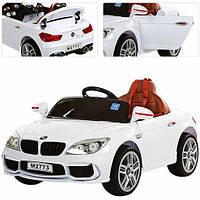 Детский электромобиль БМВ 7 серии M 2773 EBLR-1, кожаное сиденье и мягкие колеса