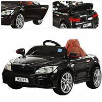 Детский электромобиль БМВ 7 серии M 2773 EBLR-2, кожаное сиденье и мягкие колеса