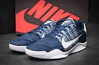 Стильные мужские кроссовки Nike Kobe 11 текстиль темно-синие
