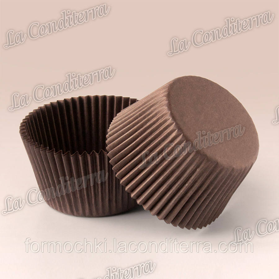 Формы для кексов коричневые 7а (Ø50, бортик – 30 мм), 2000 шт.