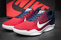 Стильные мужские кроссовки Nike Kobe 11 текстиль красные