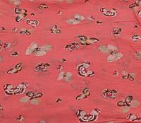 Итальянский шарф Girandola 0001-10 коралловый, коттон 80%, шелк 20% - весна/лето, фото 1