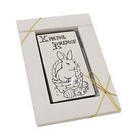 """Шоколадная открытка В-1""""Христось Вескресе"""". Размер:90х50мм,h=9мм,вес 50гр"""