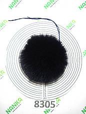 Меховой помпон Песец, Т. Синий, 11 см, 8305, фото 2