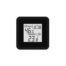Цифровий термогігрометр (чорний пластик )