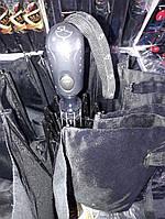Мужской черный классический зонт полуавтомат на 9 спиц от фирмы (Is)