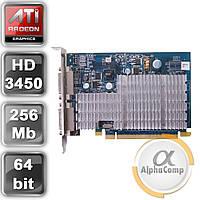 Видеокарта PCI-E ATI Radeon HD3450 (256Mb/DDR2/64bit/2xDVI) б/у