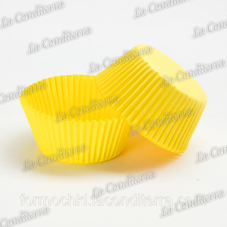 Бумажные формы для кексов желтые 7а (Ø50, бортик – 30 мм), 2000 шт.