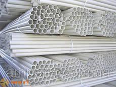 Труба ПВХ жёсткая атмосферостойкая д.40мм, тяжёлая, 3м, цвет серый, фото 2