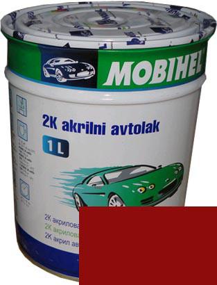 """Автокраска 110 Эмаль акриловая Helios Mobihel """"Рубин"""" 1л без отвердителя"""