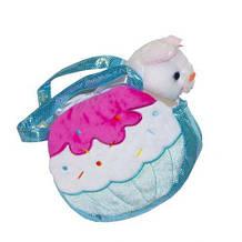 М'яка іграшка Котик в сумочці