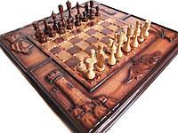 Шахматы+нарды+шашки ручной работы, фото 1