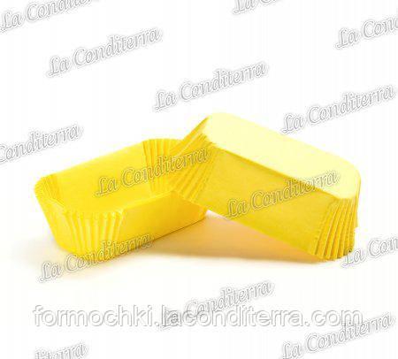 Бумажные формы для эклеров желтые Р-8 (80х35 мм, высота - 30 мм), 2000 шт.