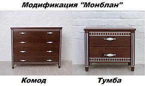 Комод Монблан орех темный + патина серебро (Микс-Мебель ТМ), фото 2