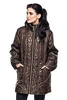 Женская куртка Луиза шоколад (52-64)