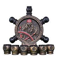 Коньячный набор Штурвал - Пираты