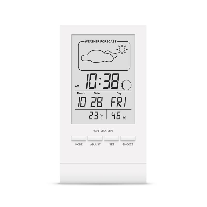 Цифровий термогігрометр білий корпус