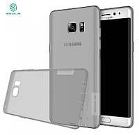 TPU чехол Nillkin Nature для Samsung N935 Galaxy Note Fan Edition серый