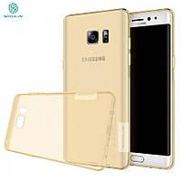 TPU чехол Nillkin Nature для Samsung N935 Galaxy Note Fan Edition золотой