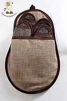 Эко-набор тапочек из каракульской шерсти