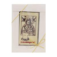 """Шоколадная открытка В-1""""З Великоднем"""". Размер:90х50мм,h=9мм,вес 50гр"""
