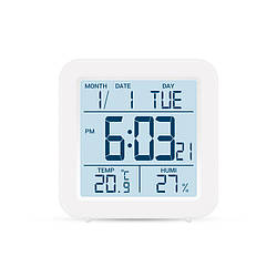 Цифровий термогігрометр (білий корпус )