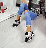 Дерзкие женские кожаные кроссовки F-Light (серебро), фото 3