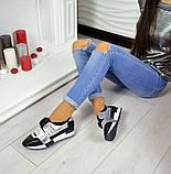 Дерзкие женские кожаные кроссовки F-Light (серебро), фото 4
